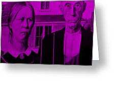 American Gothic In Purple Greeting Card