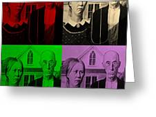 American Gothic In Quad Colors Greeting Card