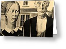 American Gothic In Sepia Greeting Card