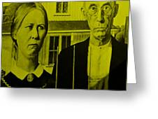 American Gothic In Yellow Greeting Card