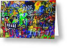 American Graffiti 15 - Crack Head Greeting Card