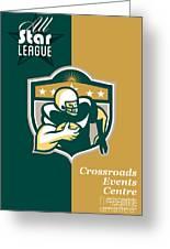 American Gridiron All Star League Poster Greeting Card by Aloysius Patrimonio
