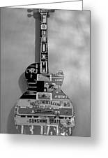 American Guitar In Black And White Greeting Card