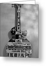 American Guitar In Black And White1 Greeting Card
