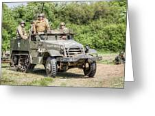 American Half Track Greeting Card by Trevor Wintle