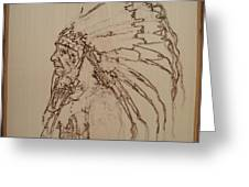 American Horse - Oglala Sioux Chief - 1880 Greeting Card