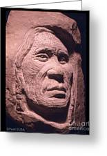 American-indian-portrait-1 Greeting Card by Gordon Punt