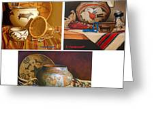 American Indian Pottery By K Henderson Greeting Card