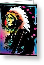 American Indian Silo Greeting Card