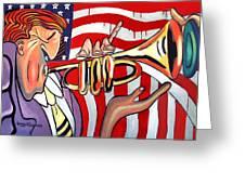 American Jazz Man Greeting Card