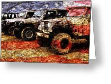 American Jeeps Greeting Card