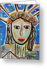 American Lady Greeting Card