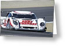 American Lemans Porsche Prototype Greeting Card
