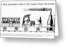 American Locomotive, 1830 Greeting Card