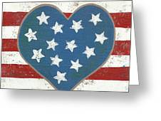 American Love Greeting Card by Kristi L Randall