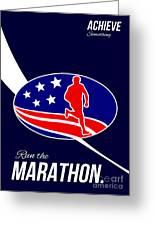 American Marathon Achieve Something Poster  Greeting Card