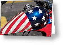 American Motorcycle Greeting Card