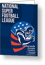American National Super Football League Poster  Greeting Card by Aloysius Patrimonio