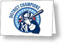 American Patriot Baseball District Champions Greeting Card by Aloysius Patrimonio