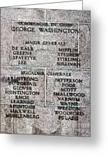 American Revolutionary War Generals Greeting Card