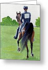 American Saddlebred Down The Road Greeting Card