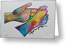 American Sign Language ... Lead Me Gently Greeting Card by Eloise Schneider