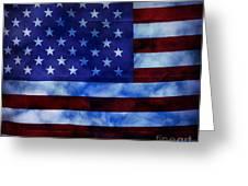 American Sky Greeting Card
