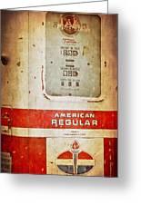 American Standard - Vintage Fuel Pump - Casper Wyoming Greeting Card