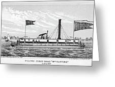 American Steamboat, 1827 Greeting Card