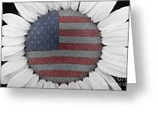 American Sunflower Power Greeting Card