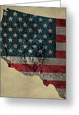 American West Topography Map Greeting Card