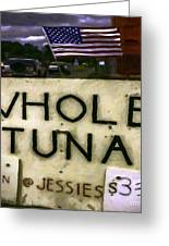 American Whole Tuna Greeting Card