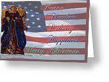 Americana Military Christmas 1 Greeting Card