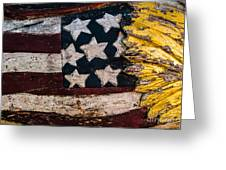 Americana - Stars And Stripes Greeting Card by Dean Harte