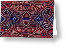 Americana Swirl Design 10 Greeting Card