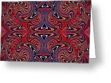 Americana Swirl Design 3 Greeting Card