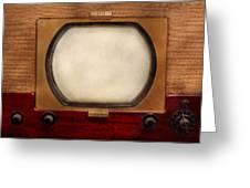 Americana - Tv - The Boob Tube Greeting Card by Mike Savad