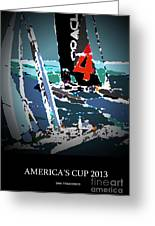 America's Cup 2013 Poster Greeting Card