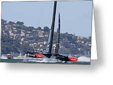 America's Cup Oracle 2013 Greeting Card by Steven Lapkin