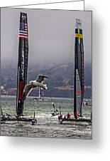 Americas Cup Oracle Team Usa V Artemis Racing Greeting Card