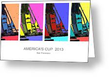 America's Cup Poster 3 Greeting Card