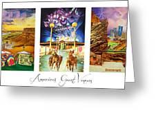 America's Great Venues Greeting Card by Joshua Morton
