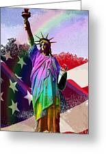 America's Statue Of Liberty Greeting Card