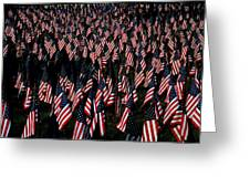 Field Of Flags - Sturbridge Mass. Greeting Card