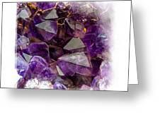 Amethyst Crystals. Elegant Knickknacks From Jenny Rainbow Greeting Card