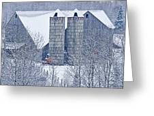 Amish Barn Greeting Card by Jack Zievis