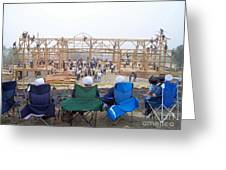 Amish Barn Raising Greeting Card