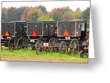 Amish Buggies 2 Greeting Card