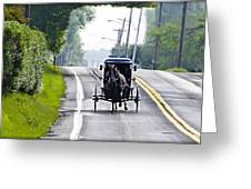 Amish Buggy In Lancaster County Pa. Greeting Card