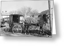 Amish Carriage, 1942 Greeting Card